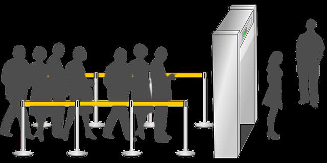 fronta na letišti