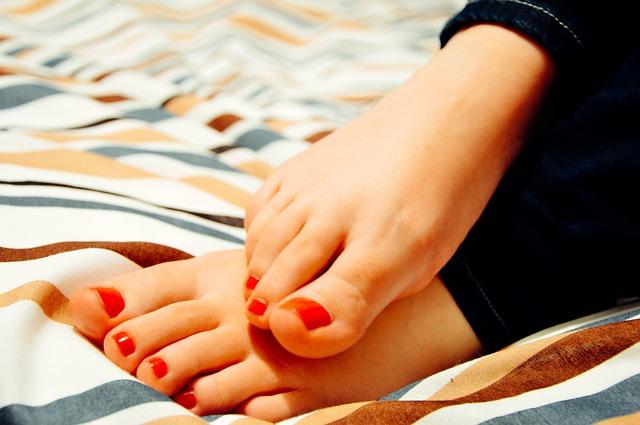 upravené nohy